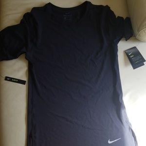 Nike Dri Fit Long Black T Shirt
